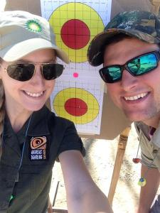 Shots from shooting off the shoulder with a .35 Whelen Rifle