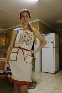 Texas Apron! Christmas gift from my mother, bought in Fredericksburg.