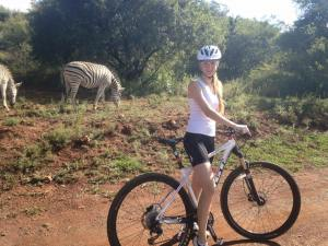 While cycling at Groenkloof you can see all sorts of wildlife.