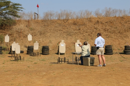 At the Hluhluwe, KZN club shoot in 2014.